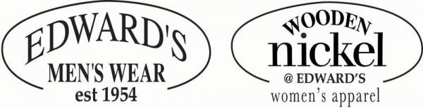 Edward's Men's Wear & Wooden Nickel Women's Apparel Logo